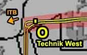 Planausschnitt 8, Bereich Technik-West