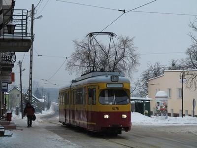 Ex-IVB 40 in Lodz als 1075 am 27.01.2013