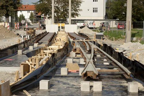 Endbahnhof Amras in Bau